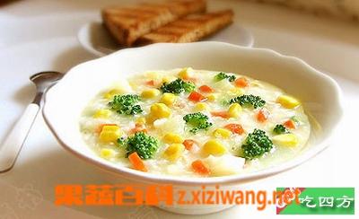 果蔬百科玉米麦片粥的做法